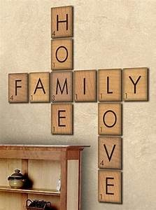 Large scrabble letters wall decor : C fc e b a cdf ac g