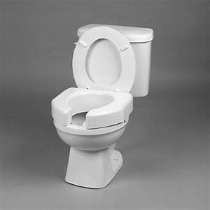 Bathroom Basic Open Front Elevated Toilet Seat 3 U0026quot  High