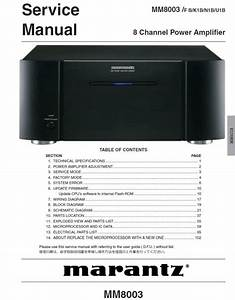 Marantz Mm8003 Power Amplifier Service Manual  U0026 Repair