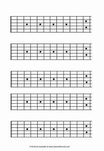 Bass Neck Notes Chart Blank Guitar Fretboard 12 Fret Http Www Devinerecords
