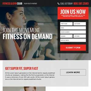 Health and fitness internet marketing landing page designs ...