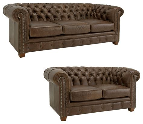 distressed brown leather sofa hancock tufted distressed brown italian chesterfield