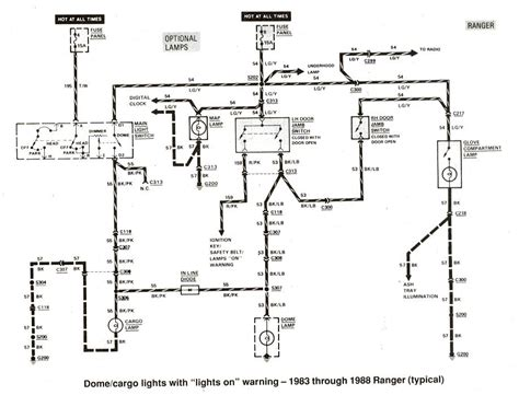 Wiring Diagram For 1988 Ford Ranger by Ford Ranger Wiring By Color 1983 1991