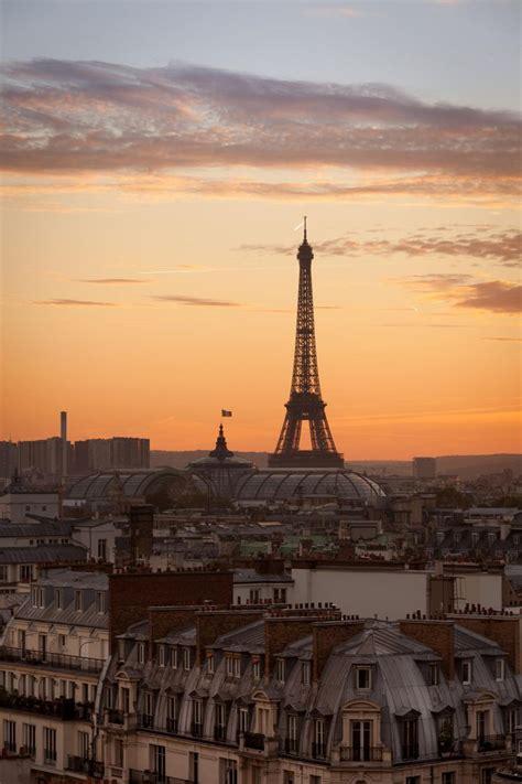 Paris France Sunset Pinterest