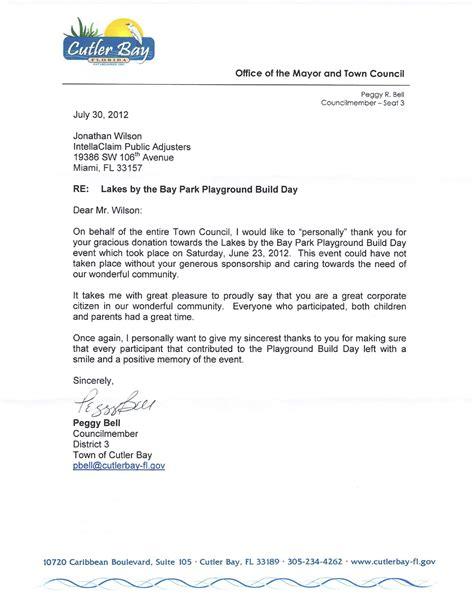 event sponsorship letter levelings