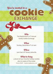 best photos of cookie exchange spreadsheet free cookie With cookie swap invitation template