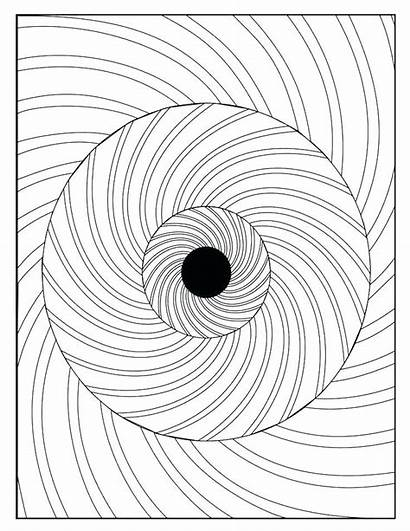 Optical Coloring Pages Illusion Illusions Op Printable