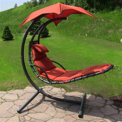 sunnydaze floating chaise lounge chair hammock chair