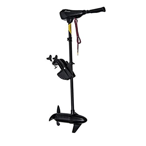 Electric Trolling Motor How Much Thrust by Outsunny 12v Transom Mounted 50 Pound Thrust Electric
