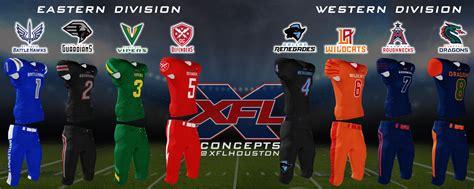 xfl dress  impress xfl concept team uniforms jerseys