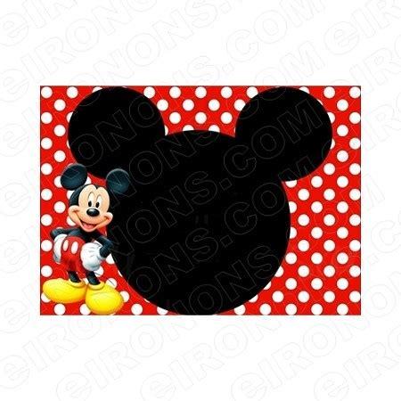 mickey mouse blank editable invitation instant