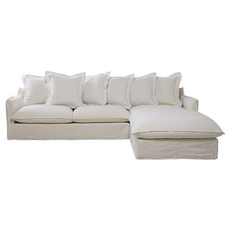 canape d angle 7 places canapé d 39 angle 7 places en lavé blanc barcelone