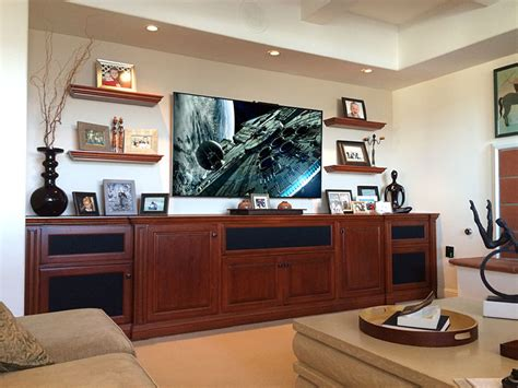 custom built  entertainment centers  home office