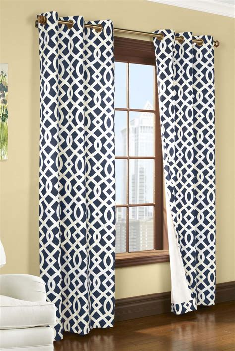 Patterned Curtains And Drapes - pattern drapes patterned grommet blackout panel