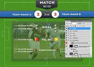 Soccer Football Score Board Psd Template
