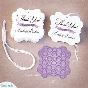 100 thank you personalized wedding favor tag gift tags With wedding favor gift tags