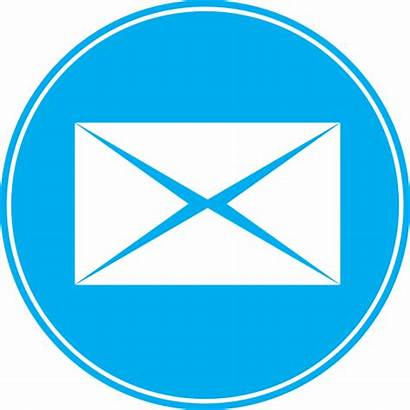 Mail Icon Email Communication Envelope Round Send