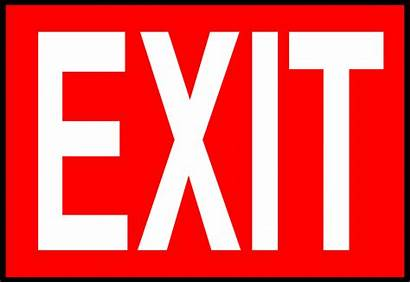 Exit Sign Clipart Illustration Signs Emergency Clip