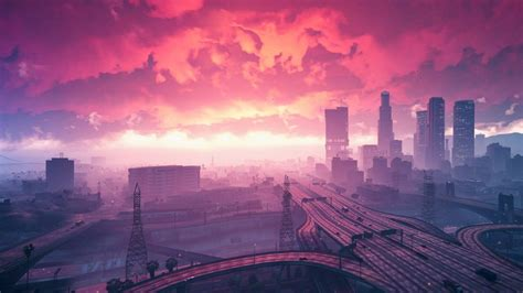wallpaper grand theft auto  sunset city hd games