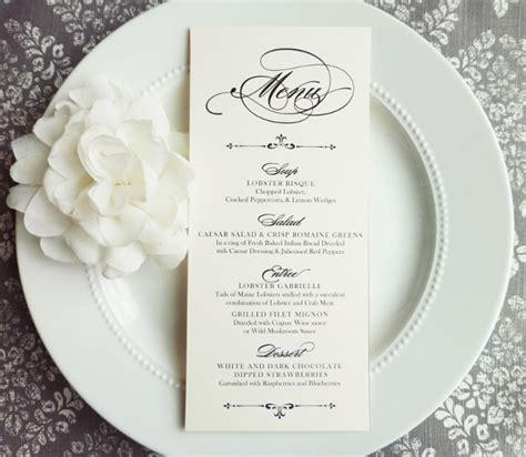 wedding menu template  sample  format