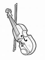 Coloring Musical Pages Instrument Violin Printable Mycoloring Print sketch template