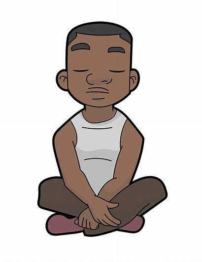 Cartoon Guy Meditation Svg Deep Wikimedia Commons