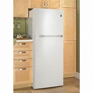 Danby 100 cu ft apartment size refrigerator freezer for Apartment fridge dimensions
