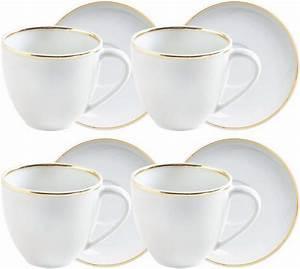 Porzellan Set Weiß : kahla espresso tassen set porzellan 8 teilig line of gold online kaufen otto ~ Markanthonyermac.com Haus und Dekorationen