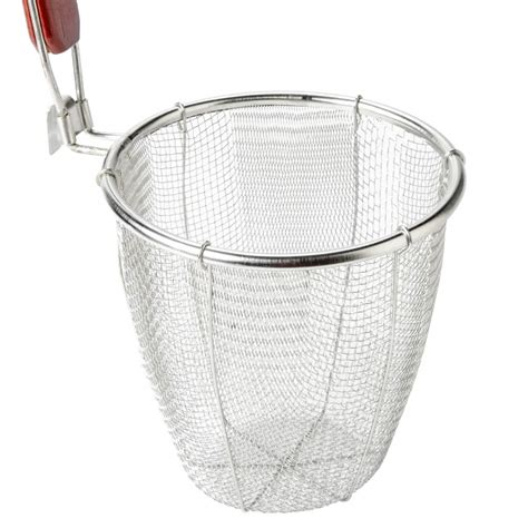 pasta strainer basket 5 1 2 quot x 5 1 2 quot stainless steel pasta strainer blanching 1419
