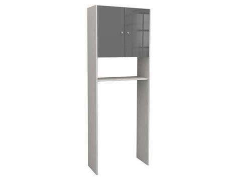 meuble de rangement wc machine 224 laver soramena coloris gris vente de armoire colonne