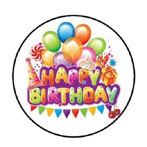 happy birthday stickers shape tulip 48 happy birthday balloons 5 envelope seals labels stickers 1 2 quot ebay