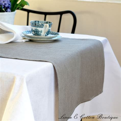 Natural Linen Table Runner  Linen & Cotton