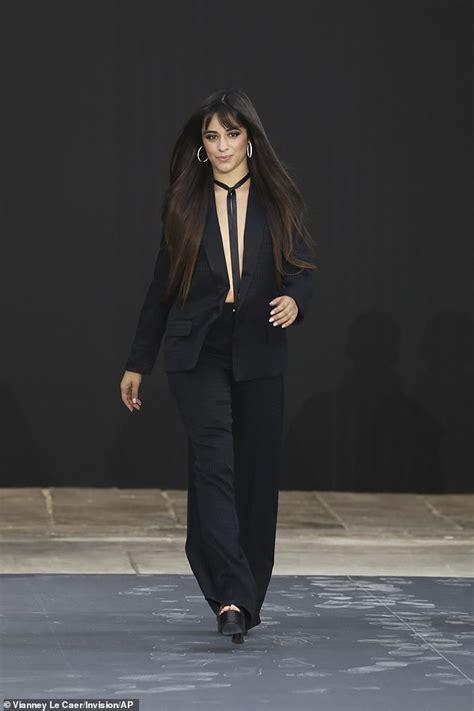 Camila Cabello Cuts Risque Figure Plunging Black Suit