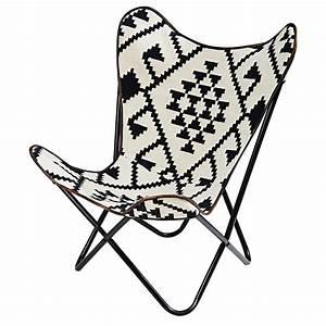 Maison Du Kilim : black and white patterned kilim armchair palmyre maisons ~ Zukunftsfamilie.com Idées de Décoration