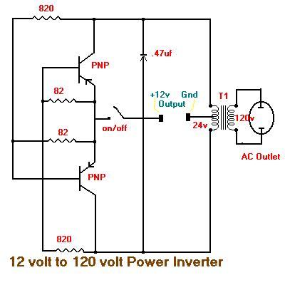Simple Volt Inverter Circuit Diagram