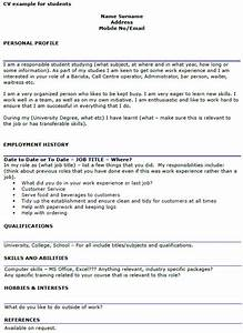 student cv example template icoverorguk With curriculum vitae examples for students