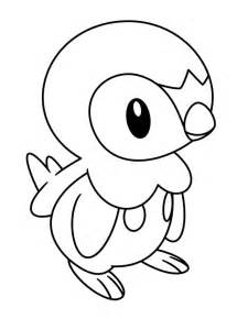Pokemon Piplup Coloring Pages