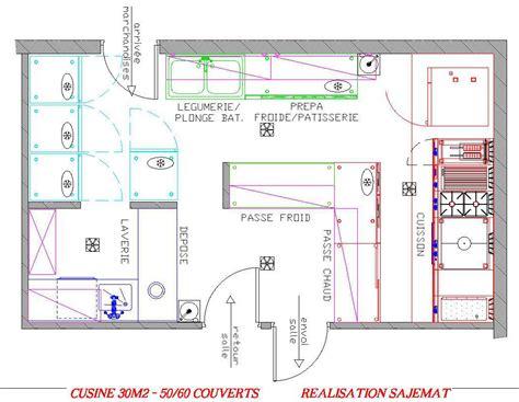 plan d architecte de cuisine professionnelle maison moderne