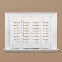 home depot interior shutters homebasics traditional faux wood white interior shutter