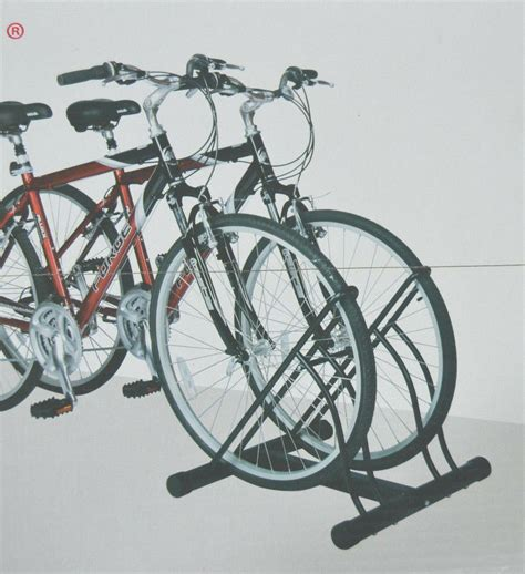 Bike Rack For Garage Floor by Two Bicycle Bike Stand Racor Garage Floor Storage