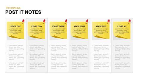 post it note template post it notes powerpoint and keynote template slidebazaar