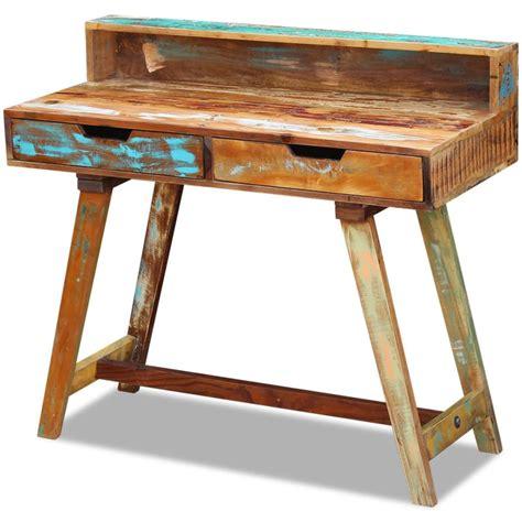 bureau bois massif pas cher acheter vidaxl bureau bois de récupération massif pas cher