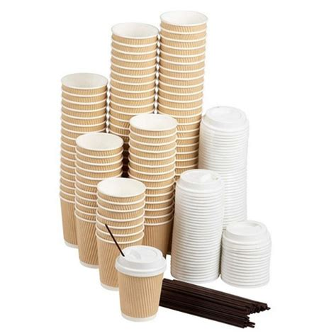 According to the latest research, there are more than 22. 50-Pack Disposable Coffee Cups Sets, 8 Oz Paper Insulated Ripple Coffee Cups To Go With Lids ...