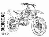 Coloring Bike Dirt Pages Sheets Graphics sketch template