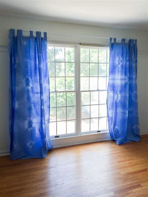 Tie Dye Drapes - diy tie dye curtains white house black shutters