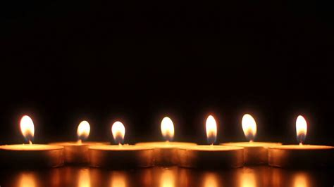 7 candles hd stock footage background loop youtube