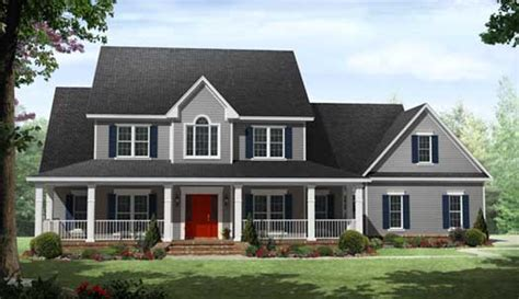 2 story farmhouse plans country style house plans 3000 square foot home 2 story 4 bedroom and 3 bath 3 garage