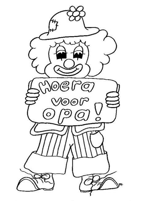Kleurplaat Hoera Opa Oma by Kleurplaten Opa Jarig Brekelmansadviesgroep
