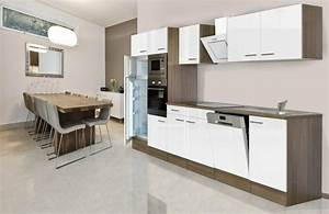 Küchenzeile Günstig Mit Geräten : k chenzeile mit e ger ten york breite 340 cm otto ~ Markanthonyermac.com Haus und Dekorationen