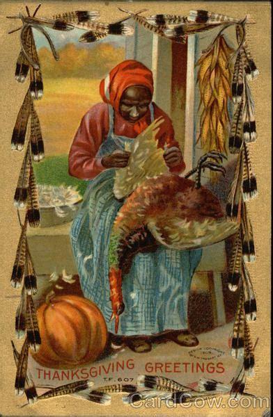 african american woman plucking turkey feathers blacks